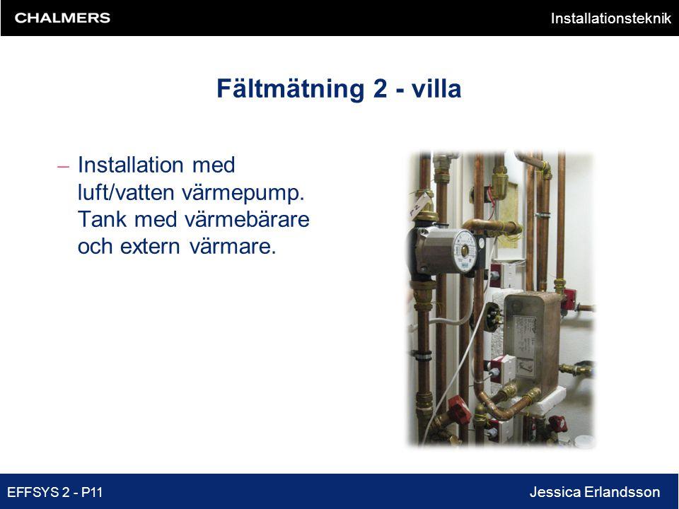 Fältmätning 2 - villa Installation med luft/vatten värmepump.