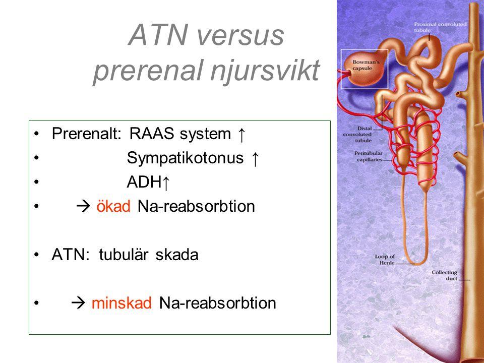ATN versus prerenal njursvikt