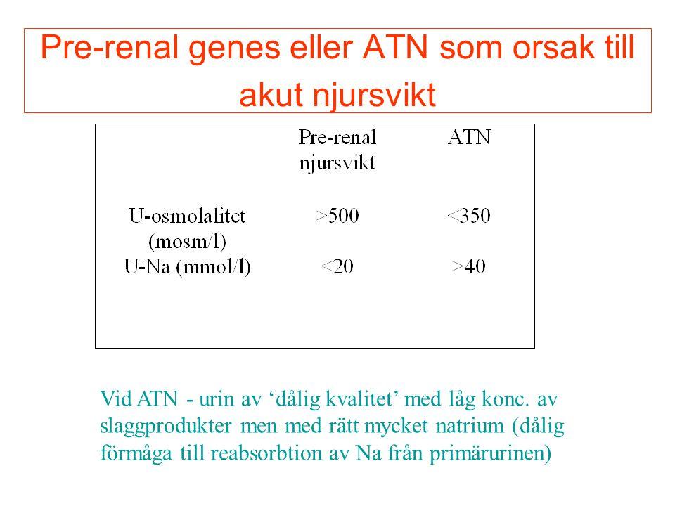Pre-renal genes eller ATN som orsak till akut njursvikt