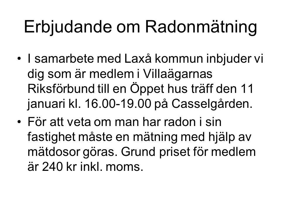 Erbjudande om Radonmätning
