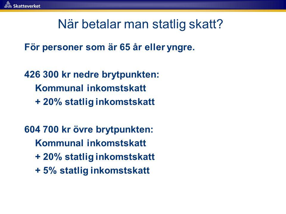 Statlig inkomstskatt 2017