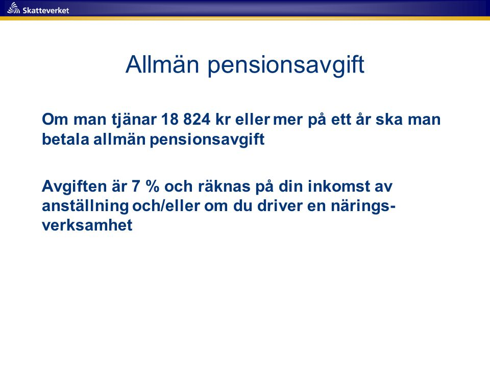 Allmän pensionsavgift