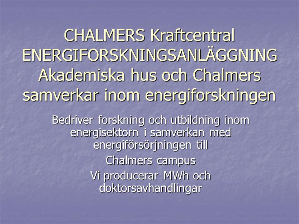 12MW CFB pannan, Chalmers: