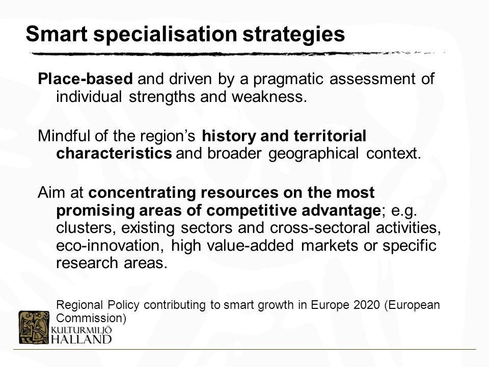 Smart specialisation strategies