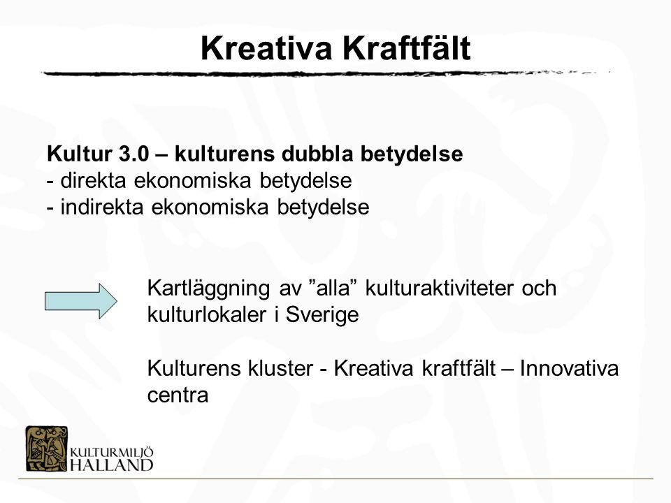 Kreativa Kraftfält Kultur 3.0 – kulturens dubbla betydelse