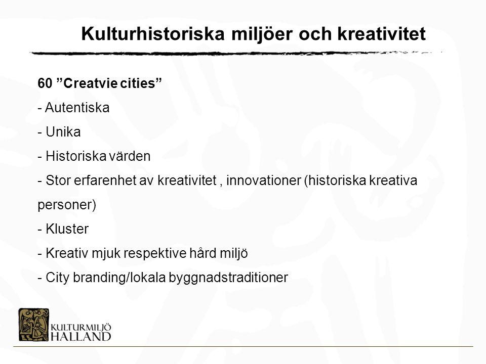 Kulturhistoriska miljöer och kreativitet
