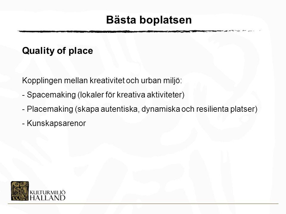 Bästa boplatsen Quality of place