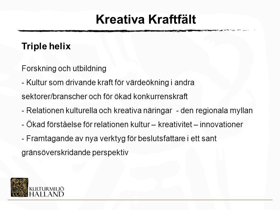 Kreativa Kraftfält Triple helix Forskning och utbildning