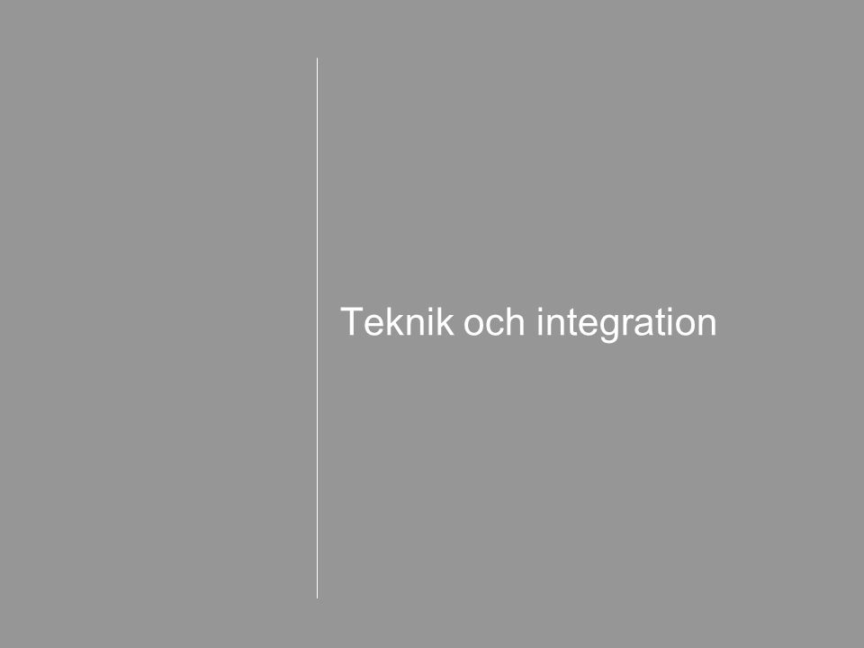 Teknik och integration