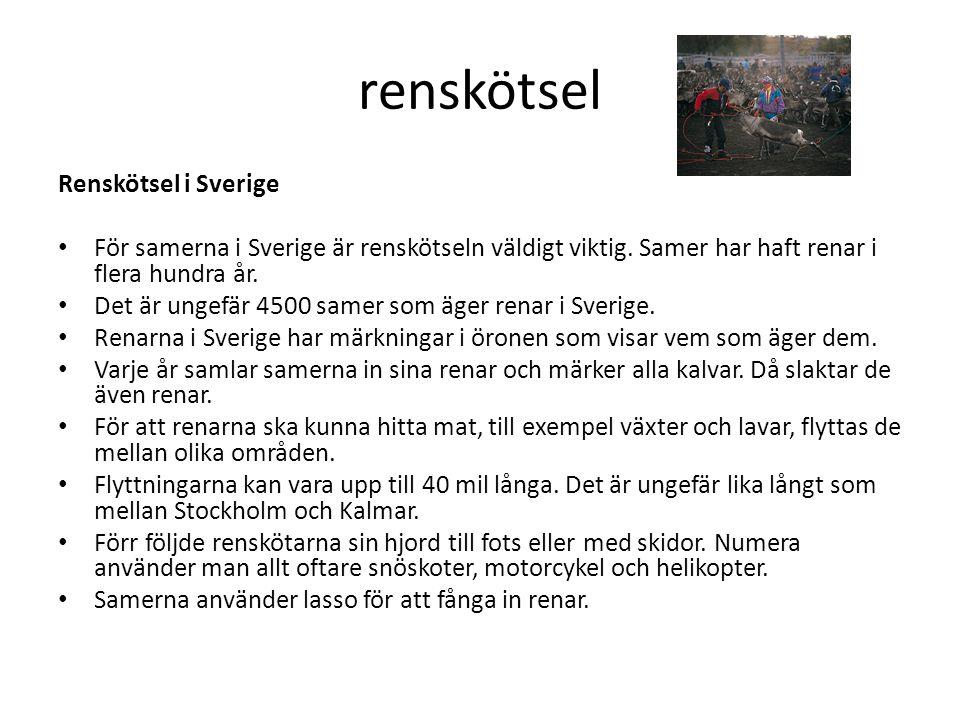 renskötsel Renskötsel i Sverige