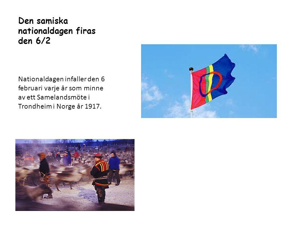 Den samiska nationaldagen firas den 6/2