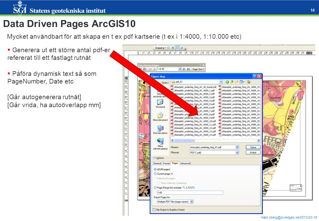 Data Driven Pages ArcGIS10