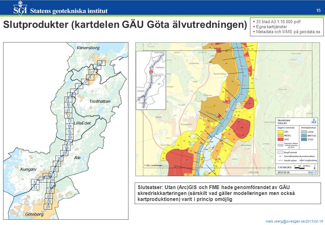 Slutprodukter (kartdelen GÄU Göta älvutredningen)