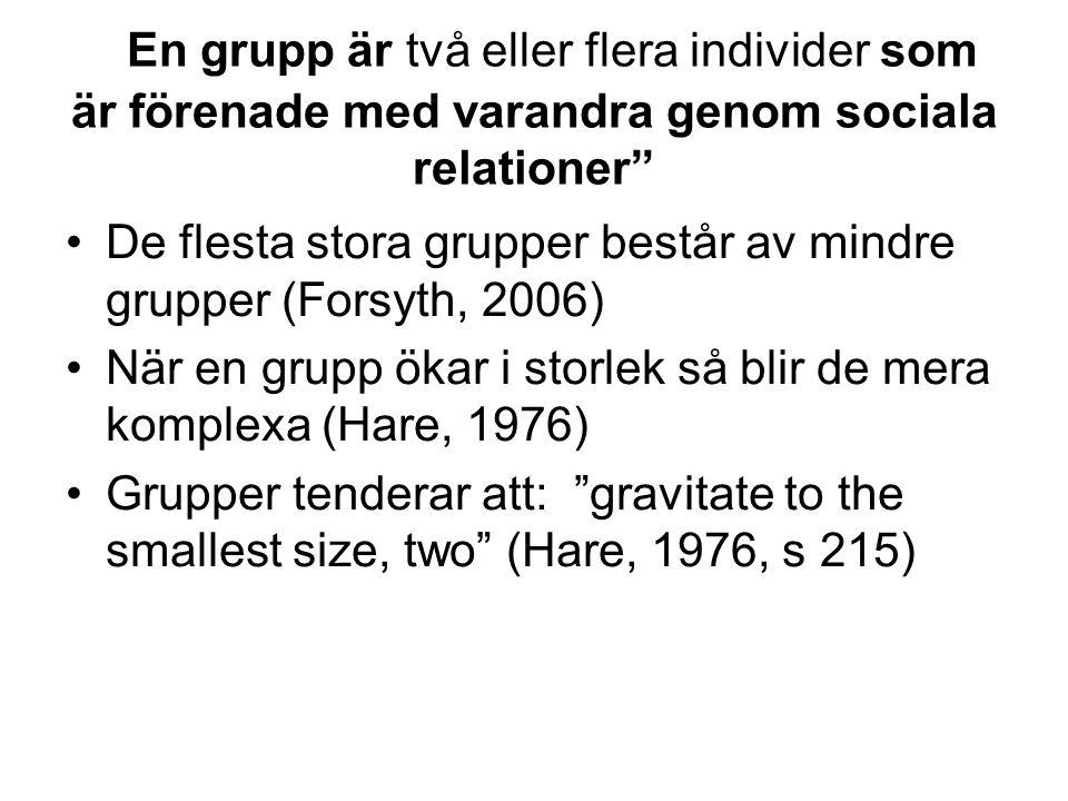 En grupp är två eller flera individer som är förenade med varandra genom sociala relationer