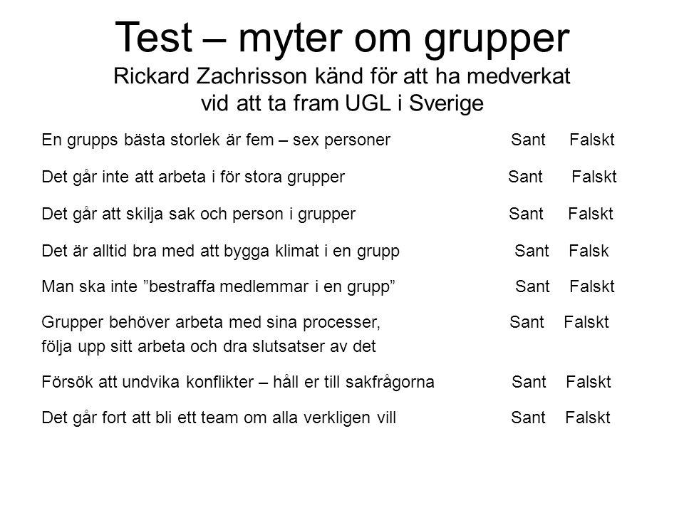 Test – myter om grupper Rickard Zachrisson känd för att ha medverkat vid att ta fram UGL i Sverige
