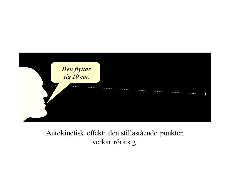 Autokinetisk effekt: den stillastående punkten