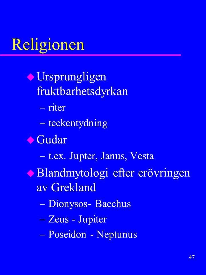 Religionen Ursprungligen fruktbarhetsdyrkan Gudar