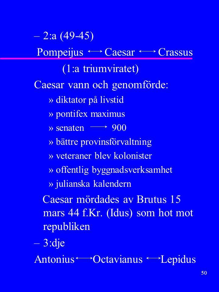 Pompeijus Caesar Crassus (1:a triumviratet)