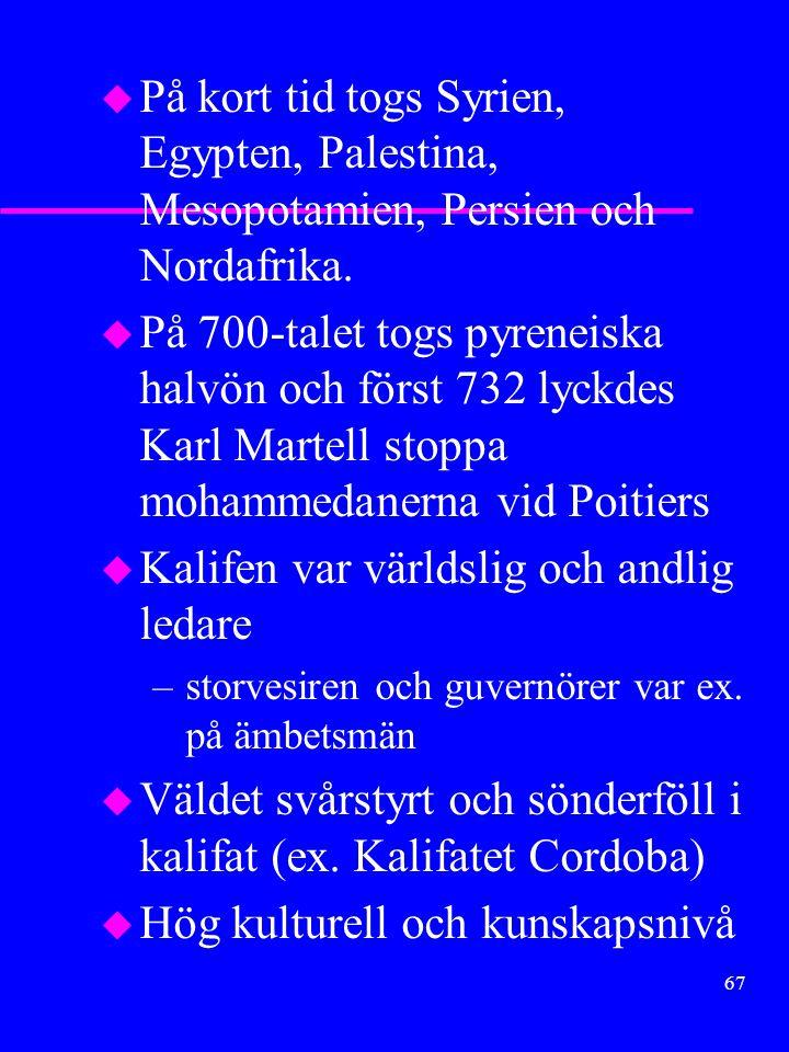 Kalifen var världslig och andlig ledare