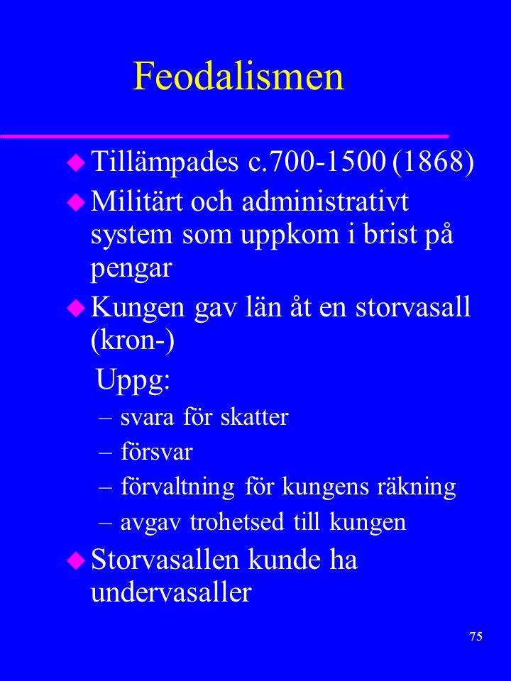 Feodalismen Tillämpades c.700-1500 (1868)
