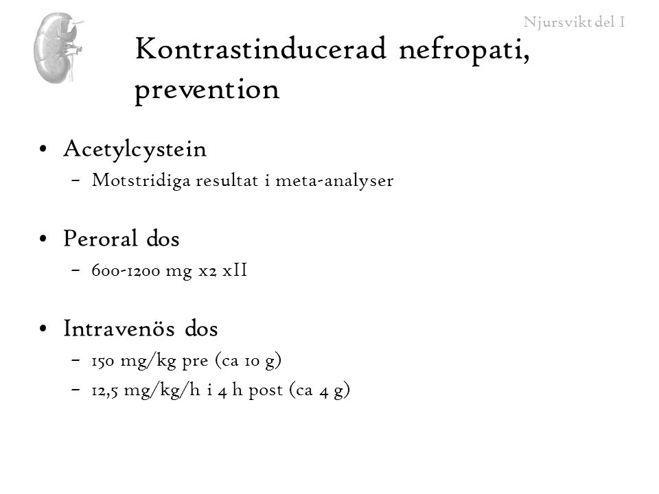 Kontrastinducerad nefropati, prevention