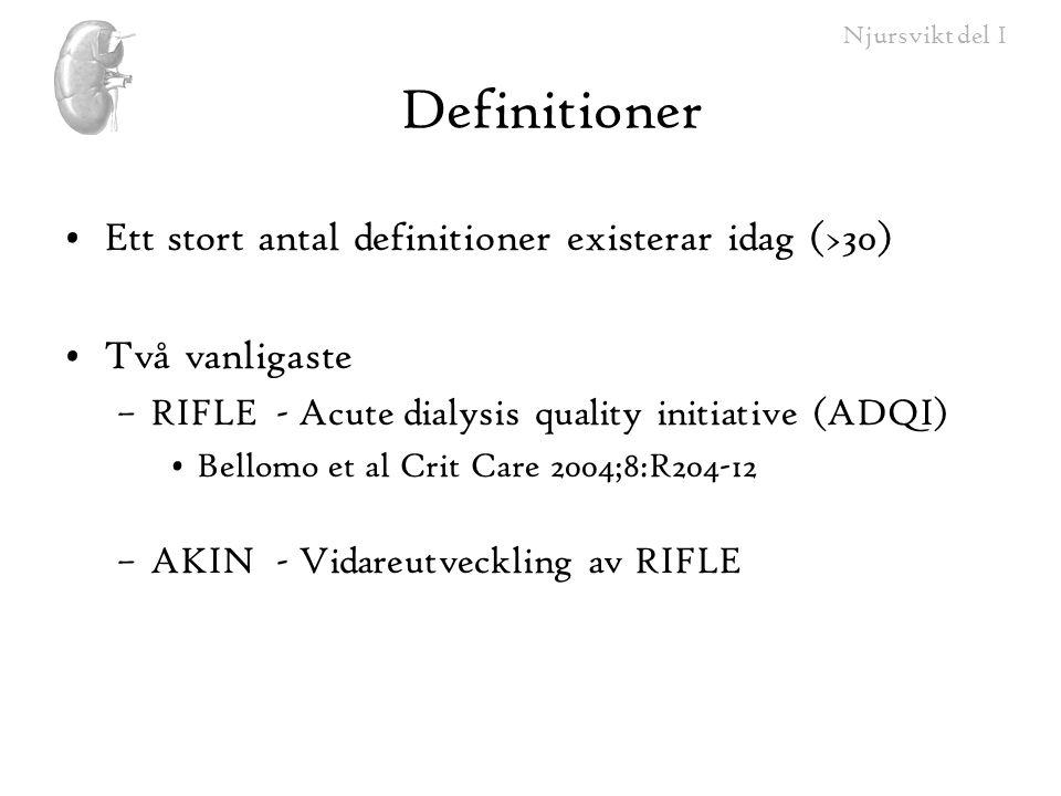 Definitioner Ett stort antal definitioner existerar idag (>30)