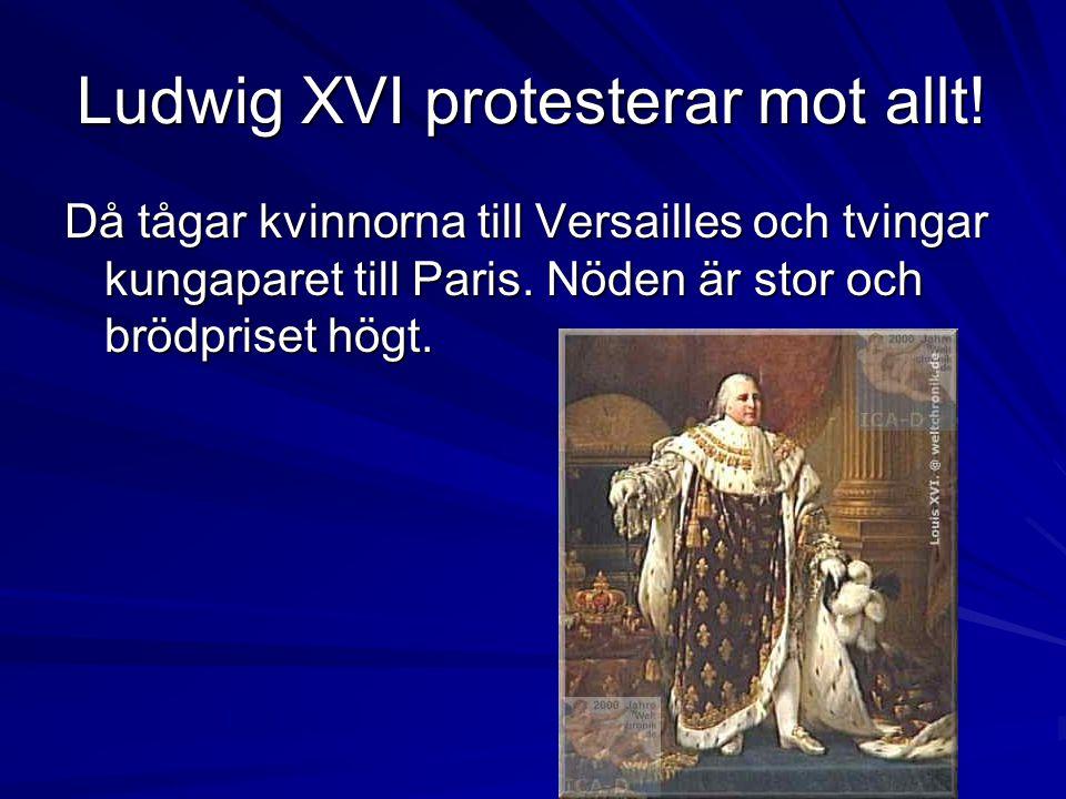 Ludwig XVI protesterar mot allt!