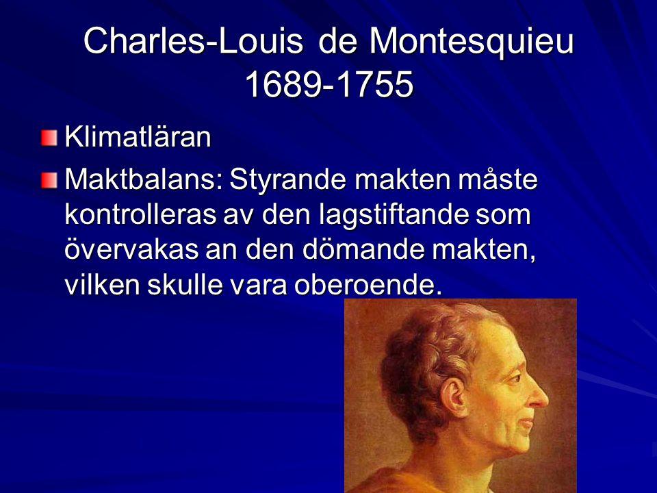 Charles-Louis de Montesquieu 1689-1755