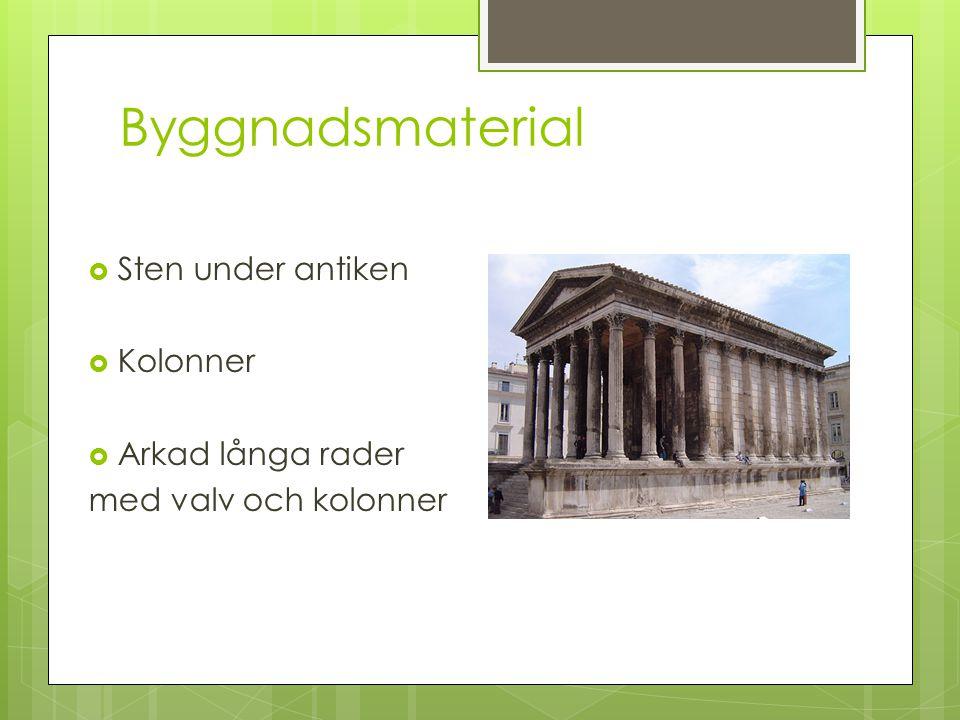 Byggnadsmaterial Sten under antiken Kolonner Arkad långa rader
