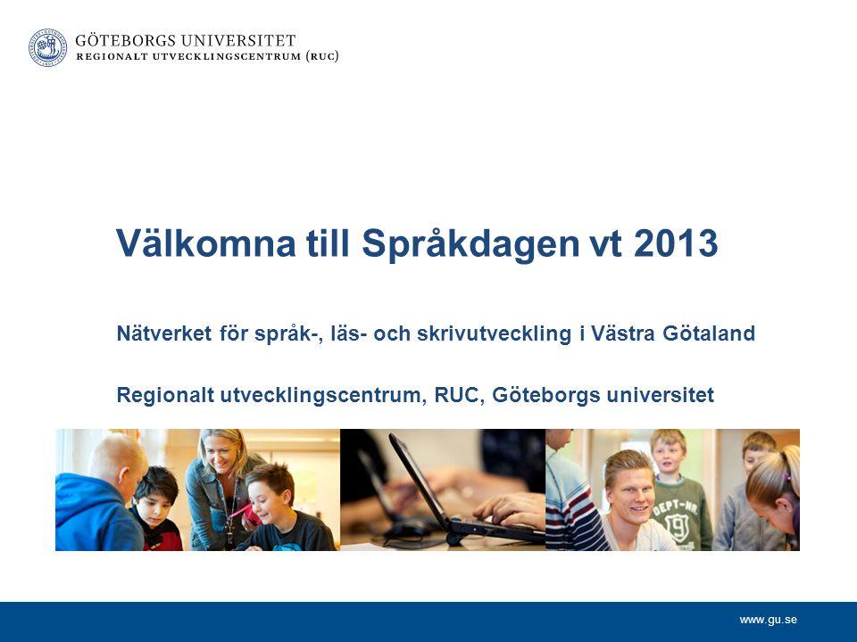 Välkomna till Språkdagen vt 2013