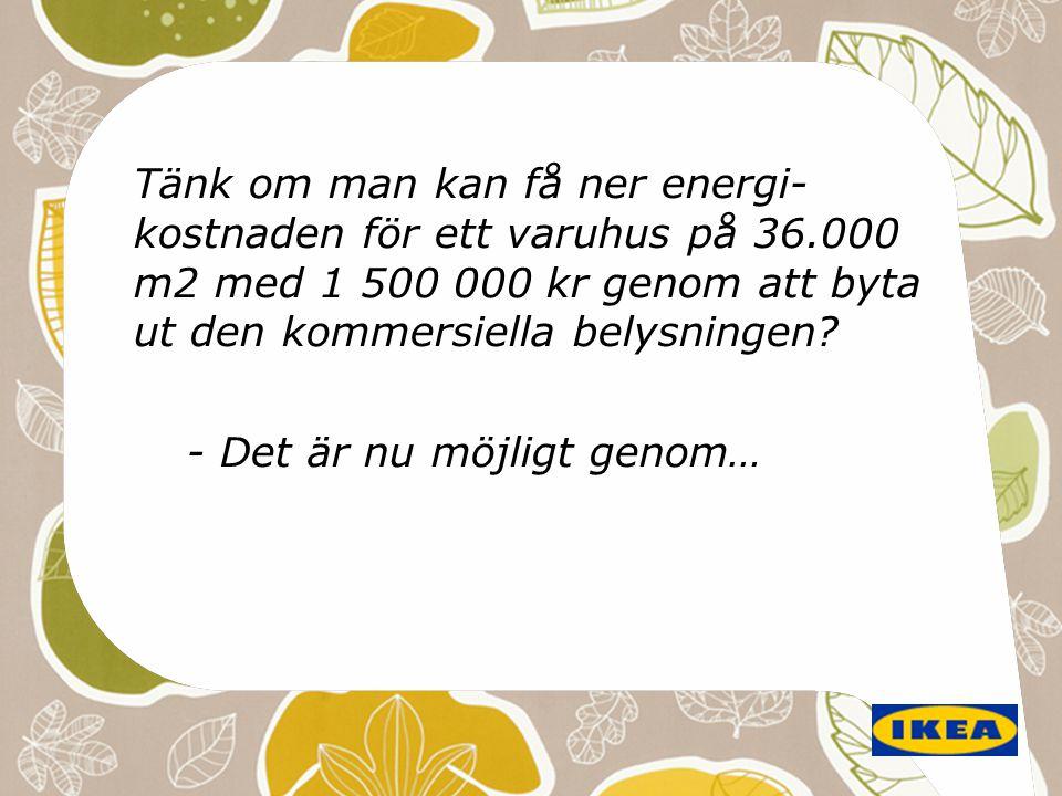 Tänk om man kan få ner energi-kostnaden för ett varuhus på 36