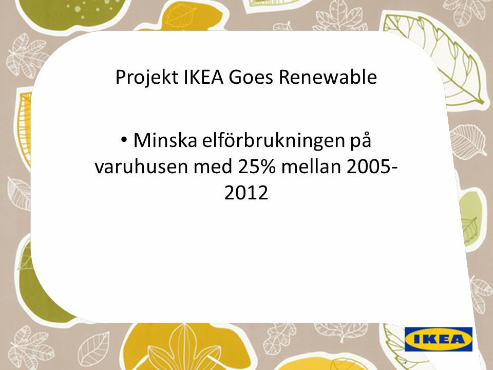Projekt IKEA Goes Renewable