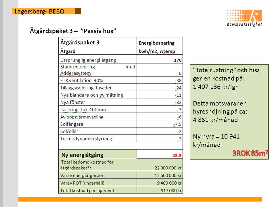 3ROK 85m2 Lagersberg- BEBO Åtgärdspaket 3 – Passiv hus