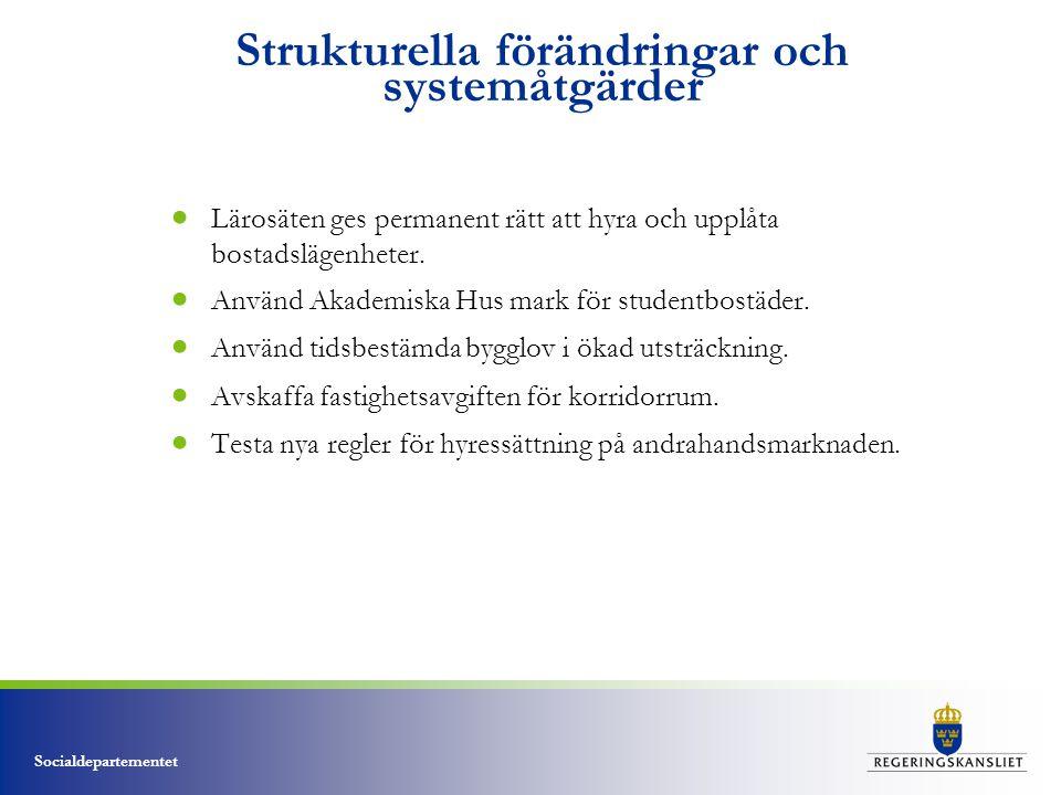 Strukturella förändringar och systemåtgärder