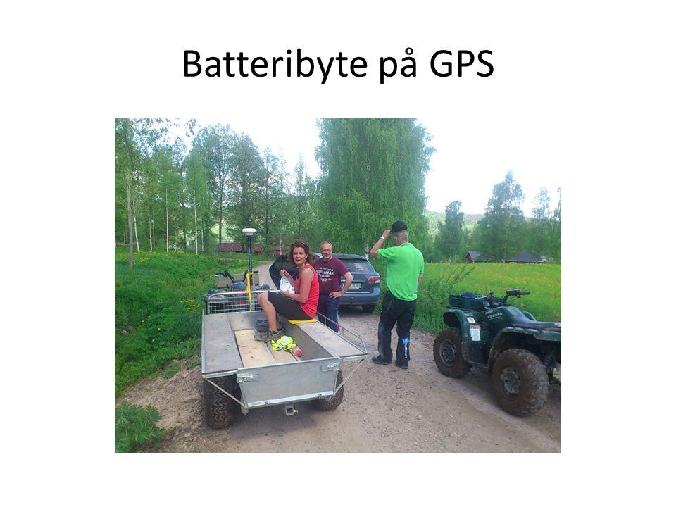 Batteribyte på GPS