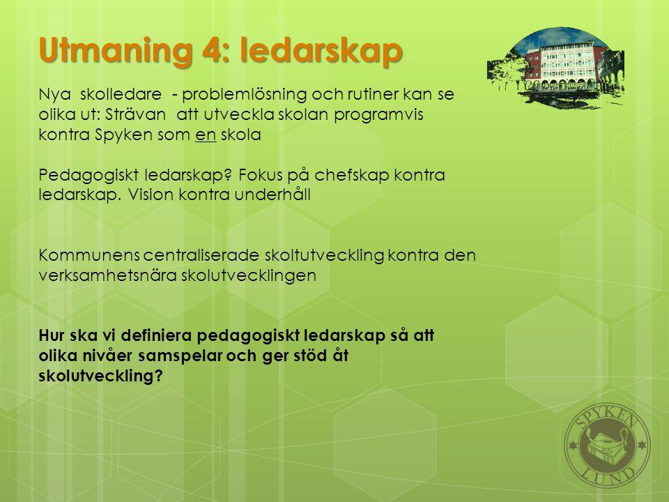 Utmaning 4: ledarskap