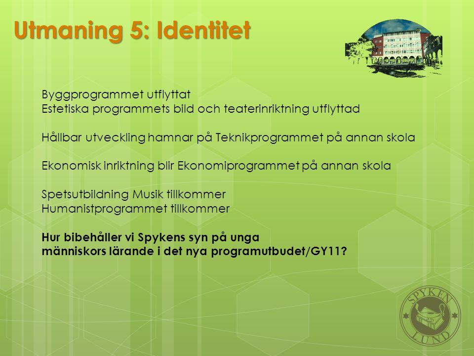 Utmaning 5: Identitet Byggprogrammet utflyttat