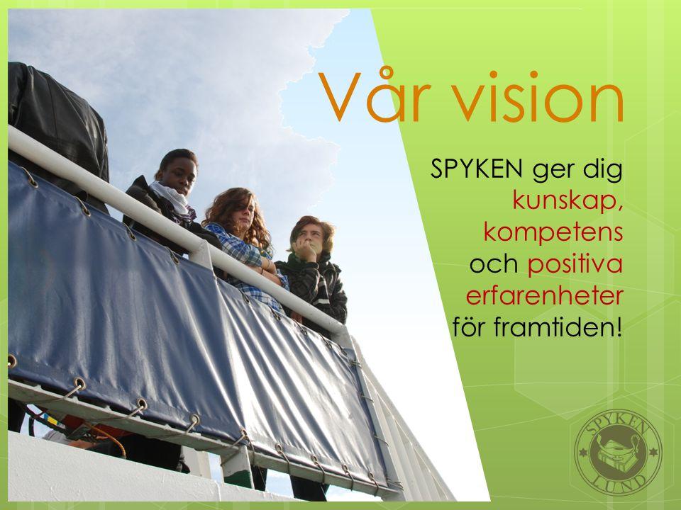 Vår vision SPYKEN ger dig kunskap, kompetens och positiva erfarenheter för framtiden!