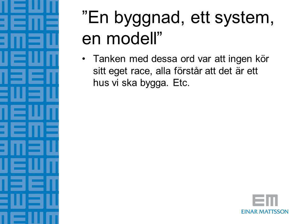 En byggnad, ett system, en modell