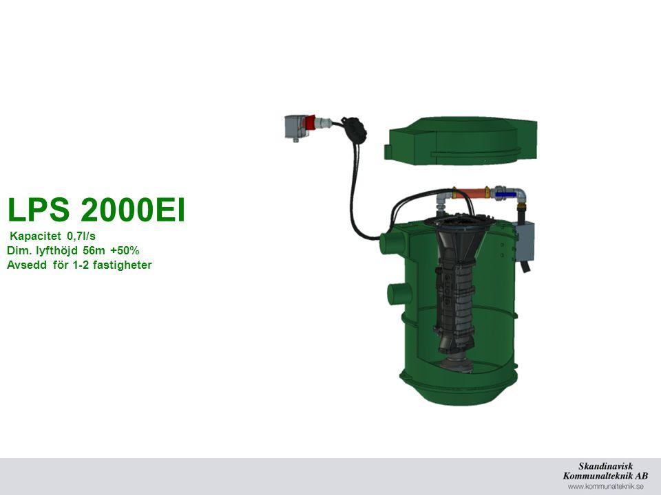 LPS 2000EI Kapacitet 0,7l/s Dim