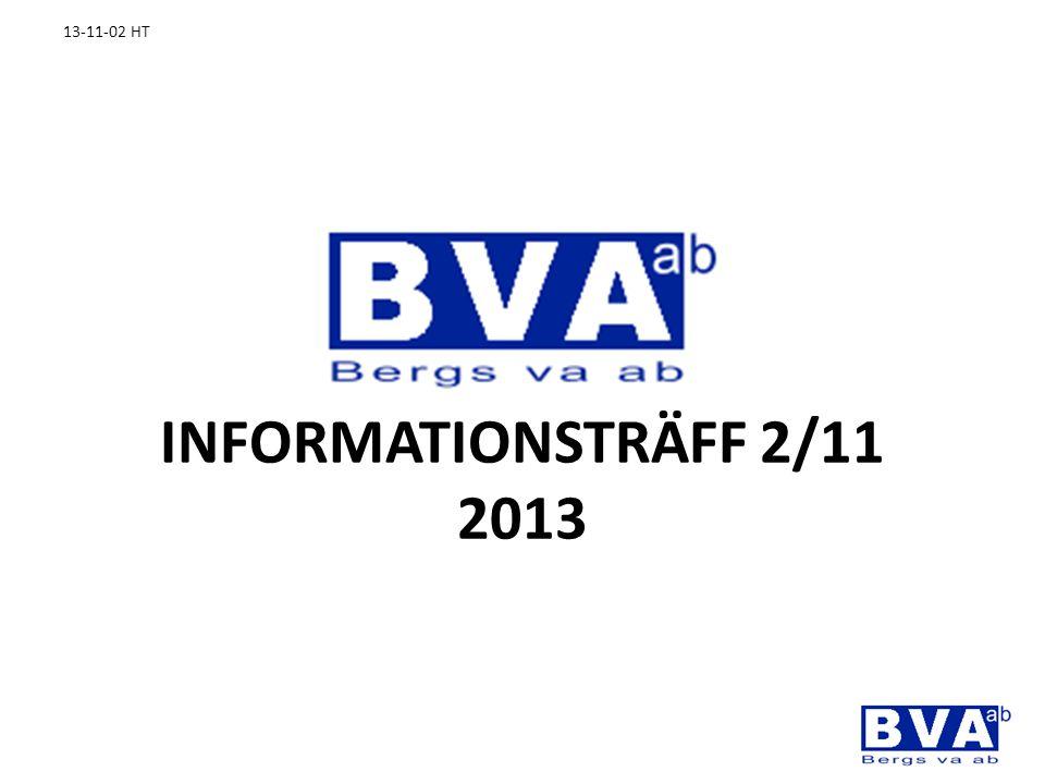 INFORMATIONSTRÄFF 2/11 2013