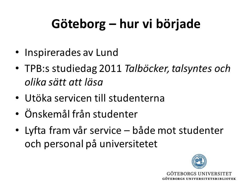 Göteborg – hur vi började