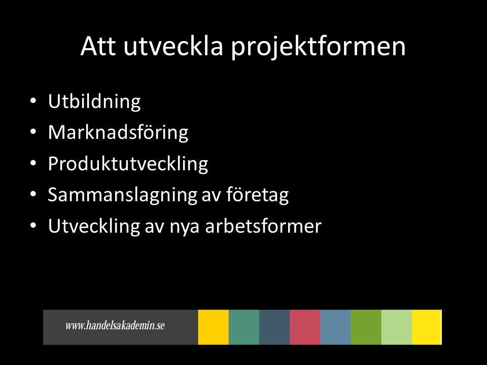 Att utveckla projektformen