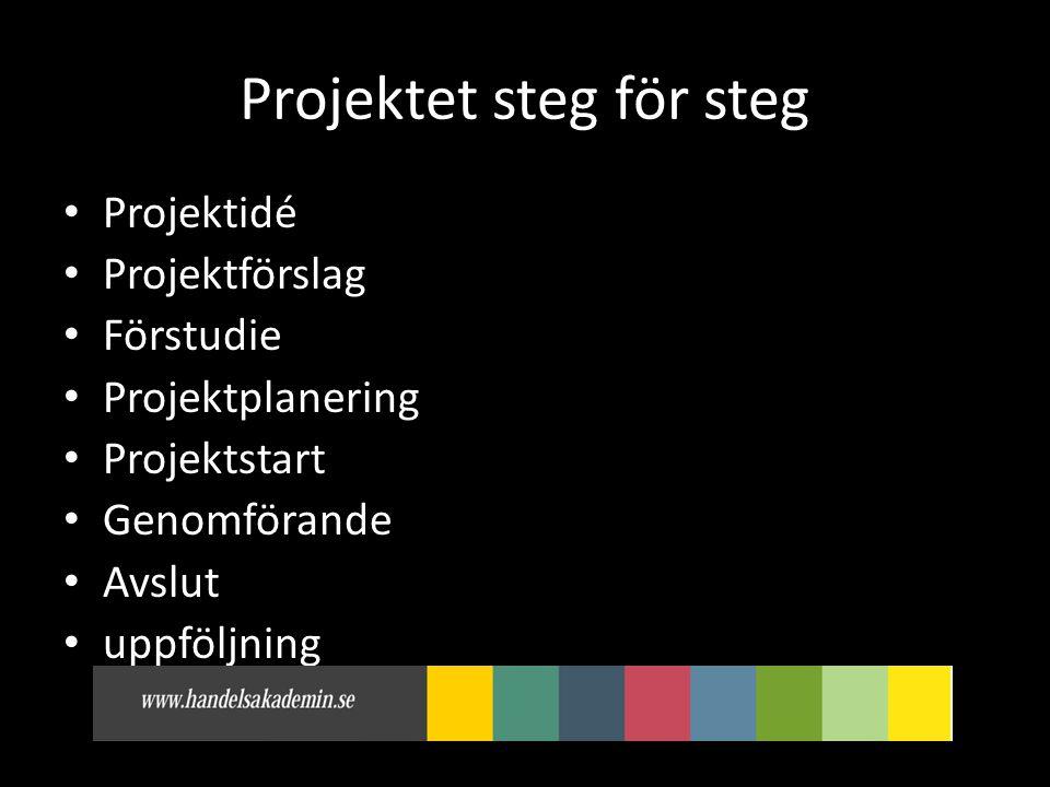 Projektet steg för steg