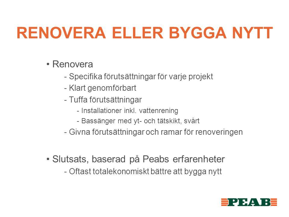 RENOVERA ELLER BYGGA NYTT