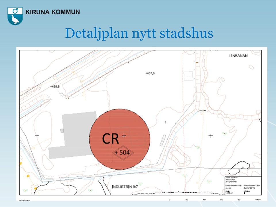 Detaljplan nytt stadshus