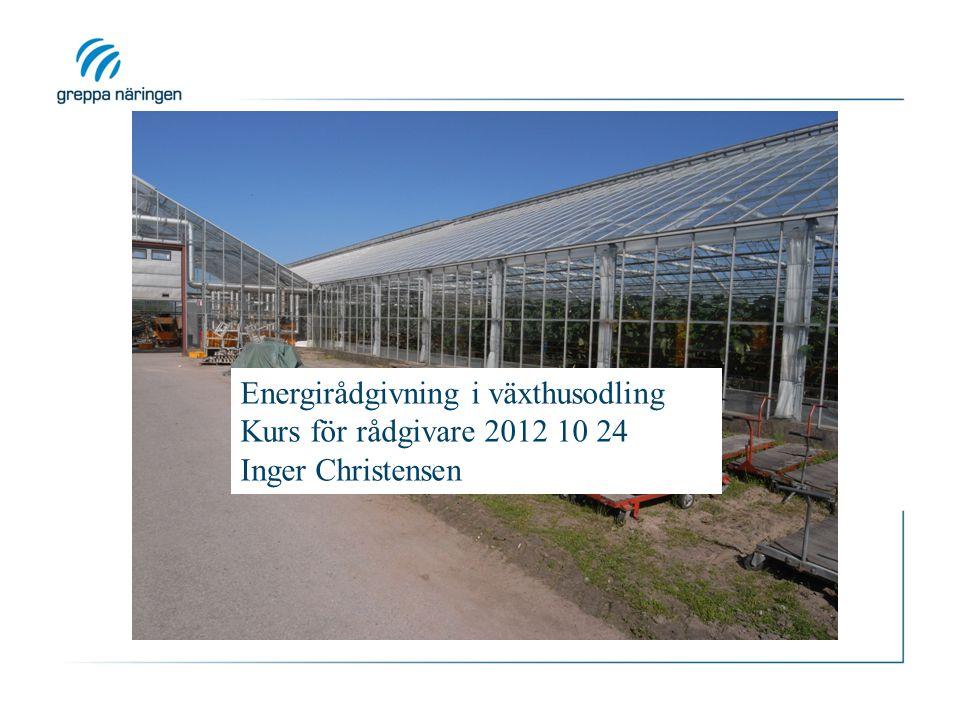 Energirådgivning i växthusodling