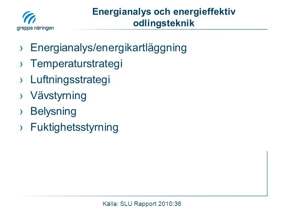 Energianalys och energieffektiv odlingsteknik