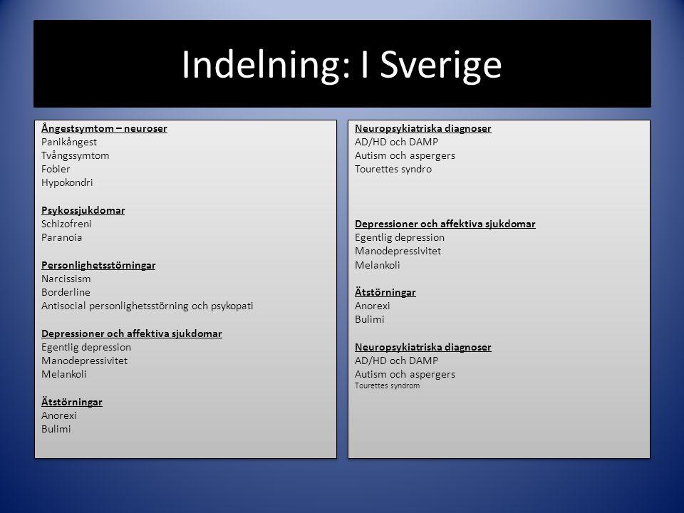 Indelning: I Sverige