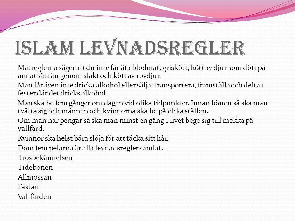 Islam Levnadsregler